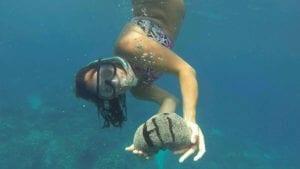 Client underwater