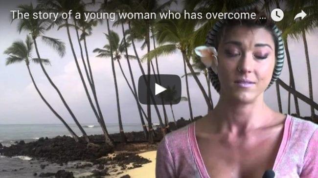 Young woman who has overcome drug addiction