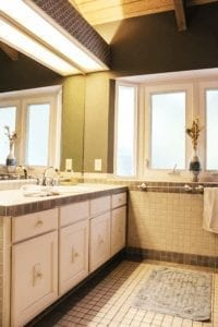 Bathroom in rehab center residence