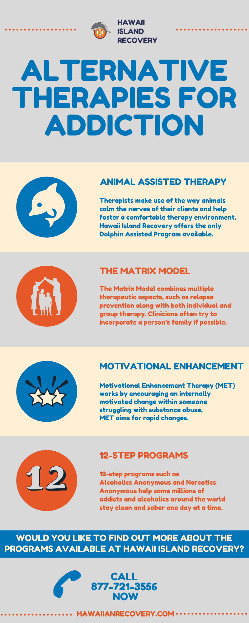 Alternative therapies for addiction