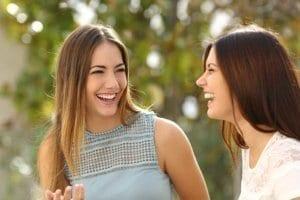 Two women feel better during women's rehab