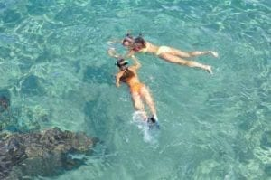 Clients go snorkeling