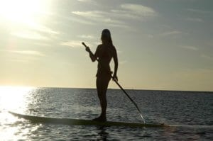 Paddle boarding in Hawaii