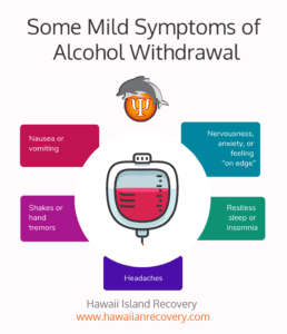 Symptoms of alcohol withdrawal | infographic