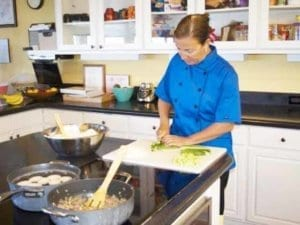 Chef Dani cooks for clients