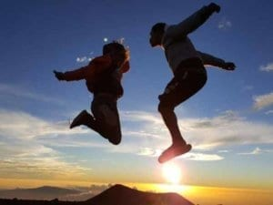 Happiness of our clients on the Mauna Kea | Hawaii Island Recovery