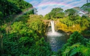Rainbow Falls in Hawaii