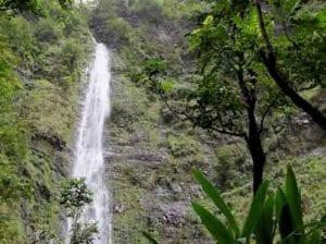 Waimoku falls in Hawaii