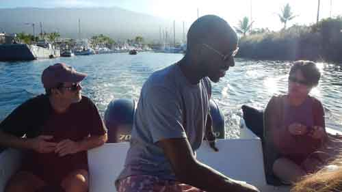 Clients on the boat